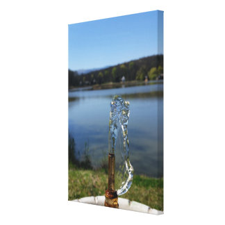 Lienzo fuente del agua potable