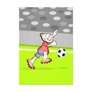 Lienzo Futbol jugador con actitud de ganador