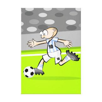 Lienzo Futbol jugador corriendo en la cancha