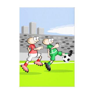 Lienzo Futbol jugador corriendo y dominando la pelota