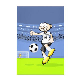 Lienzo Futbol jugador mostrando su habilidad