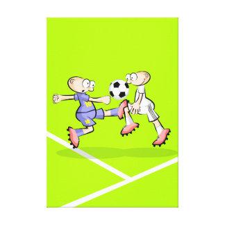Lienzo Futbol jugador tratando de quitar la pelota