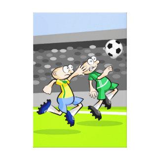 Lienzo Futbol niños corriendo por alcanzar la pelota