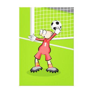 Lienzo Futbol portero haciendo un saque de arco