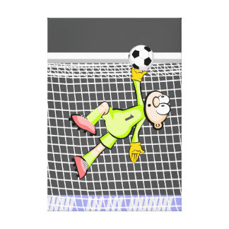 Lienzo Futbol portero se luce con su atrapada de pelota
