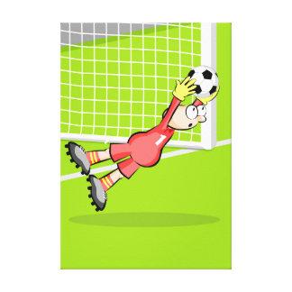 Lienzo Futbol sensacional atrapada del portero