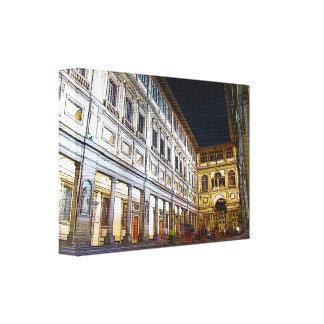 Lienzo Galería de Uffizi, lona de Florencia, Italia