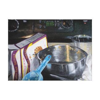 Lienzo Galletas de la hornada en la pintura de acrílico