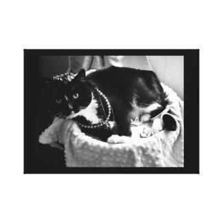Lienzo Gato de lujo