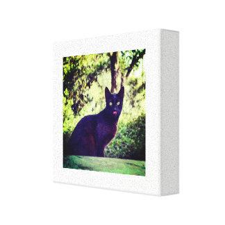 Lienzo Gato negro de Тhe