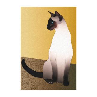 Lienzo Gato siamés del punto del sello