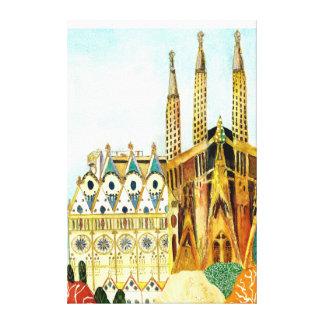 Lienzo Gaudi 's Barcelona