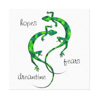 Lienzo Geckos