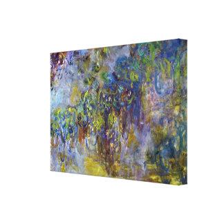 Lienzo Glicinias de Claude Monet, impresionismo del