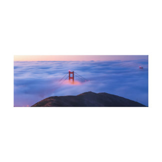Lienzo Golden Gate en niebla