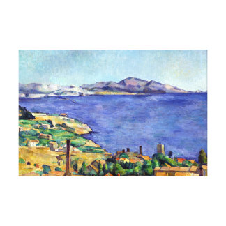 Lienzo Golfo de Cezanne de Marsella visto de L'Estaque
