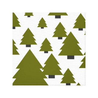 Lienzo Gráfico del árbol de navidad