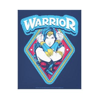 Lienzo Gráfico del guerrero de la Mujer Maravilla