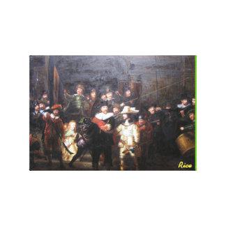 Lienzo Guardia nocturna - reproducción de la pintura de