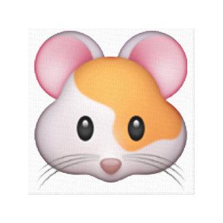 Lienzo Hámster - Emoji