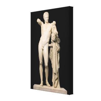 Lienzo Hermes y el Dionysus infantil