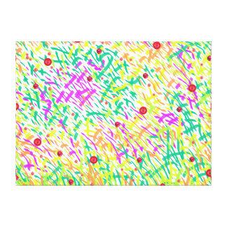 Lienzo Hierba con collage abstracto de las amapolas
