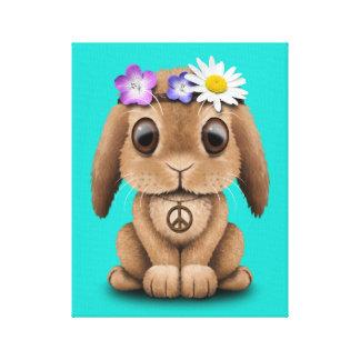 Lienzo Hippie lindo del conejito del bebé