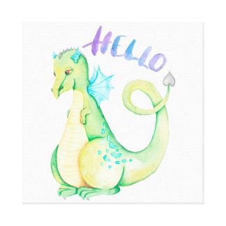 Lienzo Hola dinosaurio