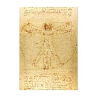 Lienzo Hombre icónico de Leonardo da Vinci Vetruvian