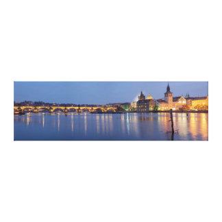 Lienzo Hora azul en Praga