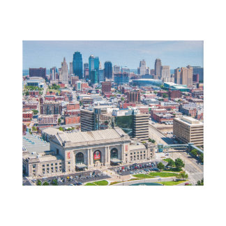 Lienzo Horizonte hermoso de Kansas City