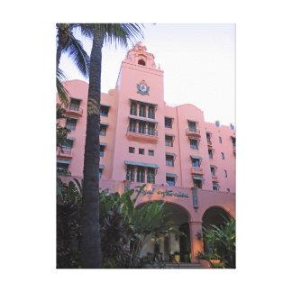 Lienzo Hotel hawaiano real