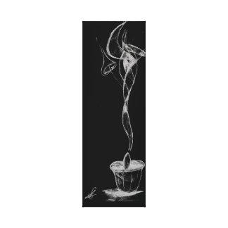 Lienzo Humo abstracto de la vela