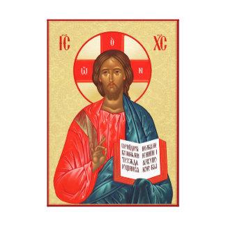 Lienzo Icono ortodoxo ruso del Jesucristo