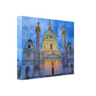Lienzo Iglesia San Carlos, Viena