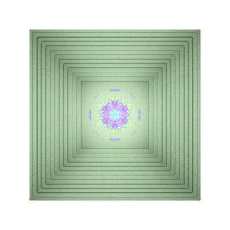 Lienzo Ilusión óptica de la lavanda verde infrecuente