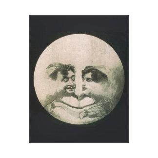 Lienzo Ilusión óptica de la luna