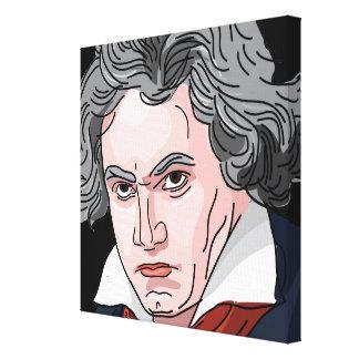 Lienzo Ilustracion del retrato de Beethoven