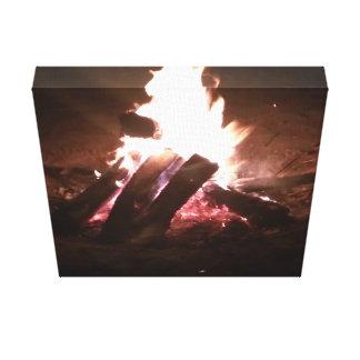 Lienzo Imagen del hoyo del fuego