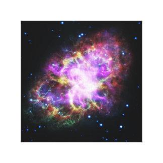 Lienzo Imagen rosada del espacio de la nebulosa de