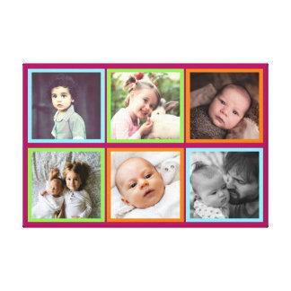 Lienzo Imágenes ajustadas multicoloras