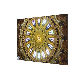 Lienzo Interior de la bóveda del edificio del parlamento