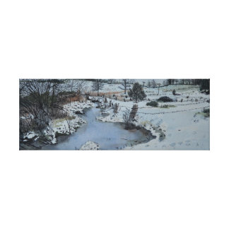 Lienzo Invierno de Michigan