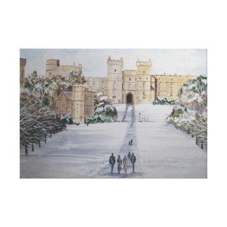 Lienzo Invierno en el castillo de Windsor