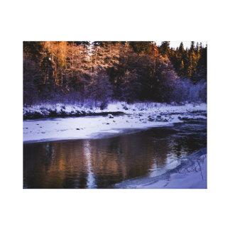 Lienzo Invierno en el Snohomish