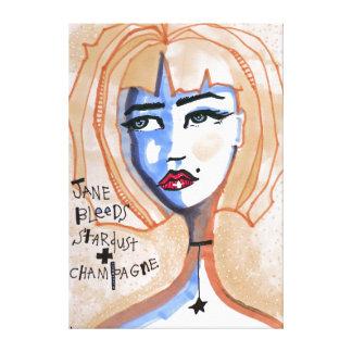 Lienzo Jane sangra Stardust y Champán