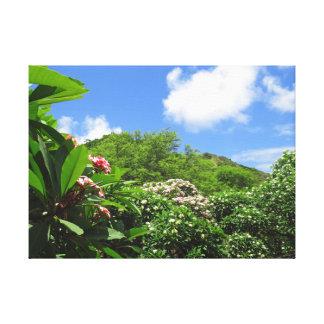 Lienzo Jardín del Plumeria