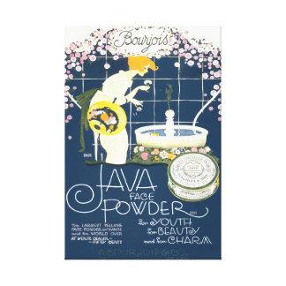 Lienzo Java hace frente al anuncio del cuarto de baño de
