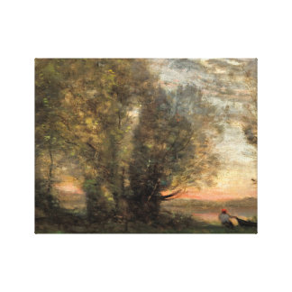 Lienzo Jean-Baptiste-Camilo Corot - el pescador