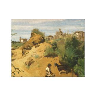 Lienzo Jean-Baptiste-Camilo Corot - Genzano